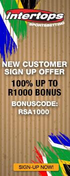 Intertops South Africa 100% Bonus Banner 140x350